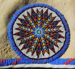 beaded vest native american rose and tepee design apache