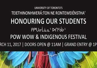"Inaugural ""Honouring Our Students Pow Wow and Indigenous Festival "" Takes Place at University of Toronto"