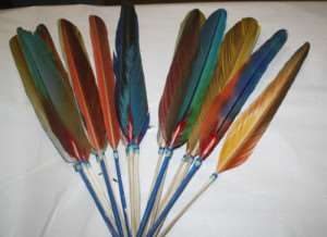 Ideal NATIVE AMERICAN BEADED FEATHER PRAYER FAN FREE SHIPPING